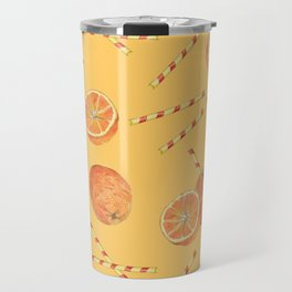 orange juice _ light Travel Mug
