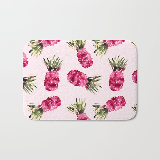 Pink Pineapples Bath Mat