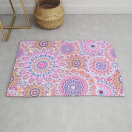 Mandala Maze Pink Rug