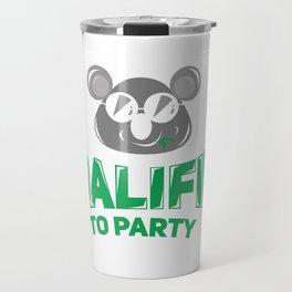 Koala Bear Party Celebration Koalified to Party Travel Mug