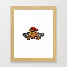 gangster bulldog  with pistols Framed Art Print