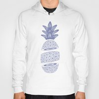 pineapples Hoodies featuring Pineapples (Light/Sliced) by Norman Duenas