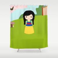mulan Shower Curtains featuring Mulan by Kawaii Creations