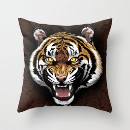 The Tiger Roar Throw Pillow