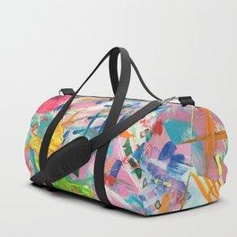 Colorful Distortion Duffle Bag