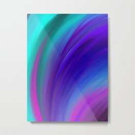 Abstract Colorful Oil Paint Swash Metal Print