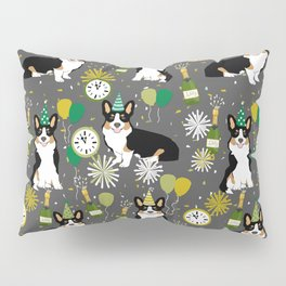 Tricorgi New Years Eve - NYE, tricolored corgi, corgi gift, corgi  lover Pillow Sham