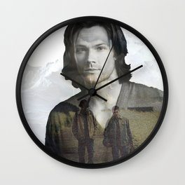Sam Winchester Fan Art Wall Clock