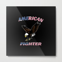 American Fighter Metal Print