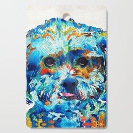 Colorful Dog Art - Lhasa Love - By Sharon Cummings Cutting Board