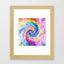 digital tie dye 15 Framed Art Print