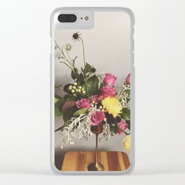 Goblet o Flowers Clear iPhone Case