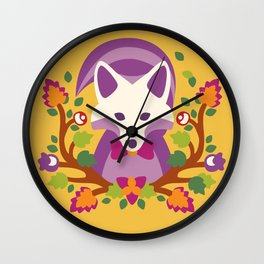 Baltimore Woods Fox - Fall Colors Wall Clock