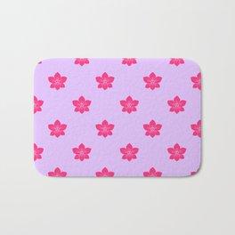 Pink orchid pattern Bath Mat