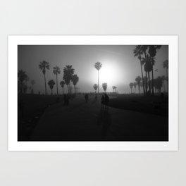 BW Beach Art Print