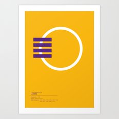 Los Angeles Lakers geometric logo Art Print
