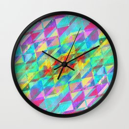MULTICOLORED HAPPY CHAOS Wall Clock