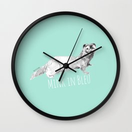 Mink in Bleu (Modular) (c) 2017 Wall Clock