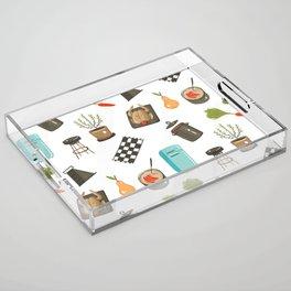 Retro Cooking Acrylic Tray