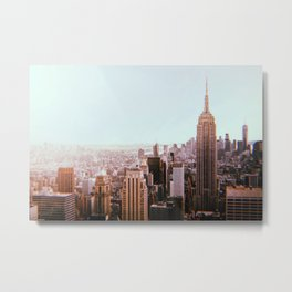 New York City // Retro 82 Metal Print