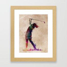 Golf player art 2 Framed Art Print