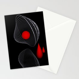 red and white on black -16- Stationery Cards