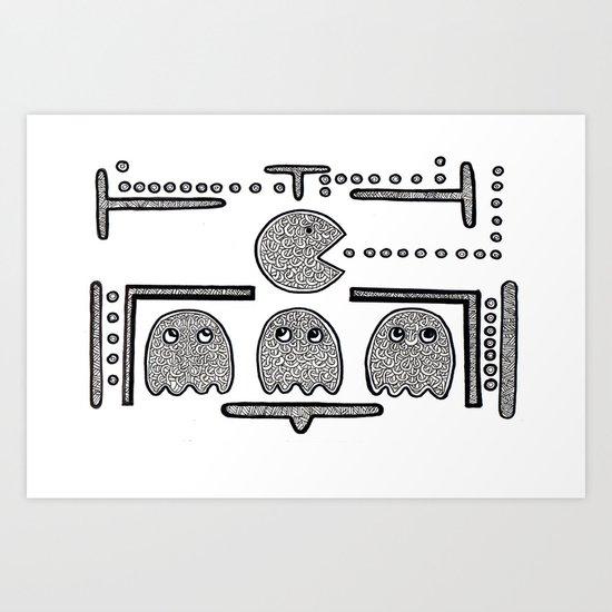Celtic Pacman Art Print