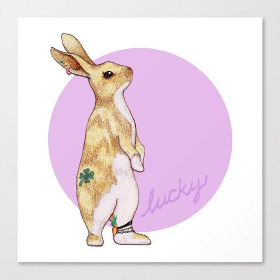 Lucky Bunny Canvas Print