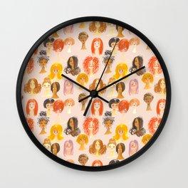 Hair Girls Wall Clock
