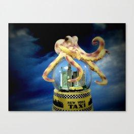 Octopus Attacks New York! Canvas Print
