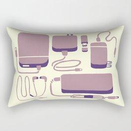 Digital Emergency Kit (Lavender) Rectangular Pillow