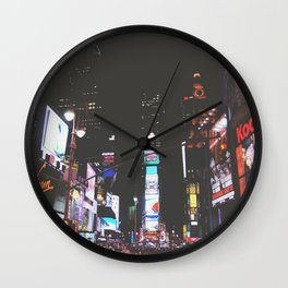 Evening Glow - Times Square Wall Clock