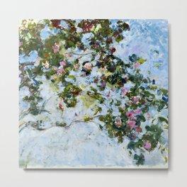 """Claude Monet """"The Rose Bush"""" Metal Print"""