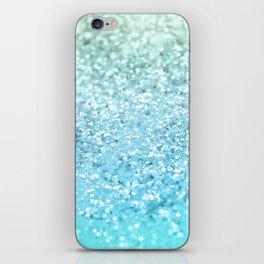 Seafoam Aqua Ocean MERMAID Girls Glitter #1 #shiny #decor #art #society6 iPhone Skin