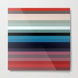 Les lignes de couleurs 03 Metal Print