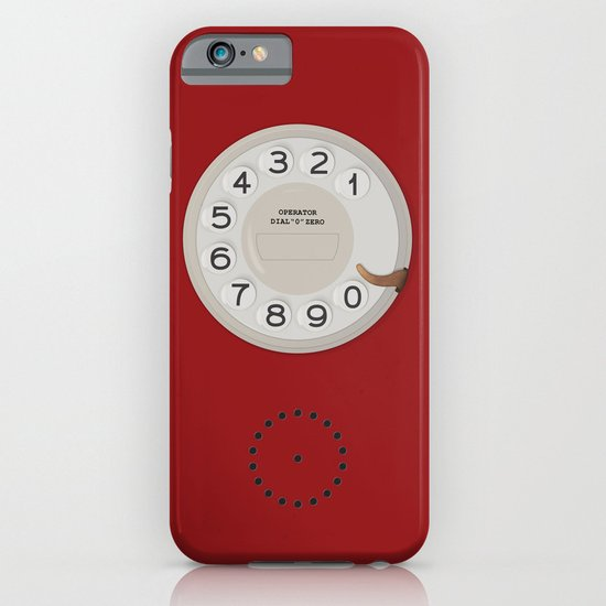 Vintage Dial Phone Red iPhone & iPod Case