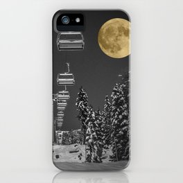 Chair Lift to the Moon iPhone Case