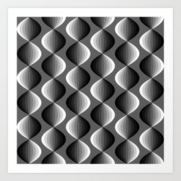 Abstract geometric grayscale pattern  Art Print