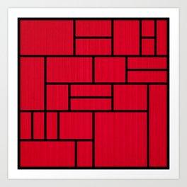 Mondrian Bauhaus Pattern #10 Art Print