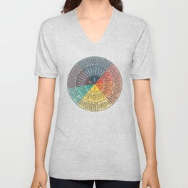 Wheel Of Emotions Unisex V-Neck