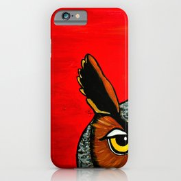 Peaking - Great Horned Owl iPhone Case