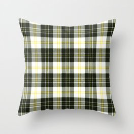 Rustic Plaid Pattern: Yellow Throw Pillow
