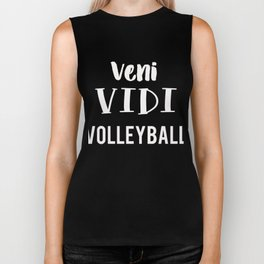 Veni Vidi Volleyball Fun Gift Design Biker Tank