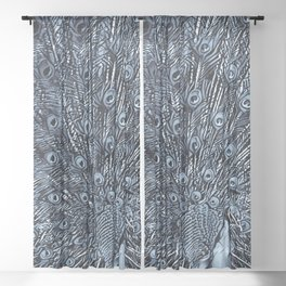 Feathers - Midnight Sheer Curtain