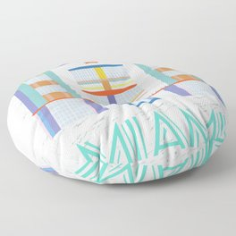 Miami Landmarks - The Berkeley Shore Floor Pillow
