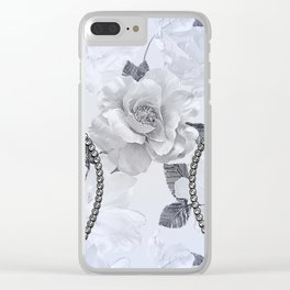 Elegant, decorative floral design Clear iPhone Case