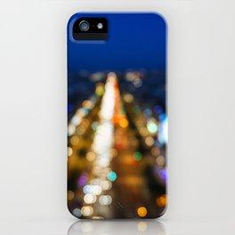 Paris Nighttime Traffic iPhone Case