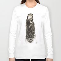 blanket Long Sleeve T-shirts featuring Security Blanket by Rie Martin