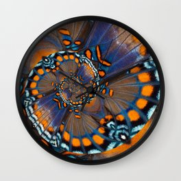 Fly With Me - Butterfly Wing Photography by Fluid Nature Wall Clock