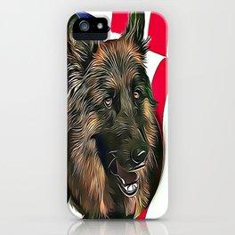 German Shepherd & American Flag iPhone Case